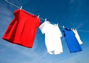 shirts on clothesline