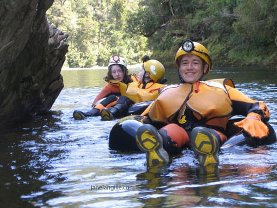 blackwater rafting on the Nile River, New Zealand