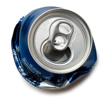 crushed soda pop can