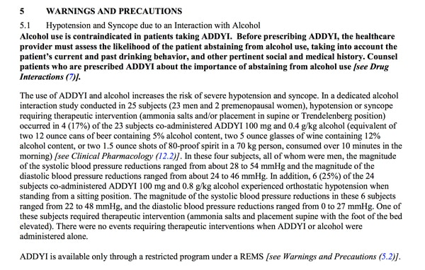 prescribing information addyi