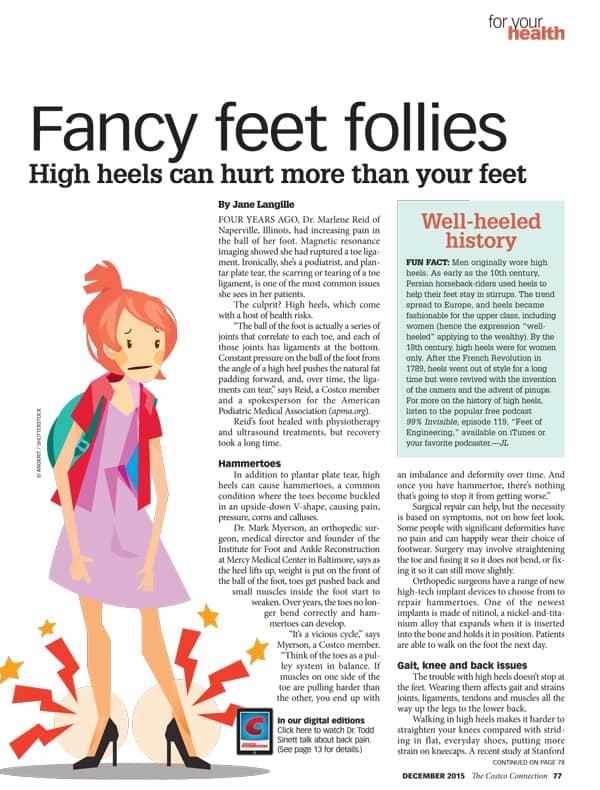 health risks high heels